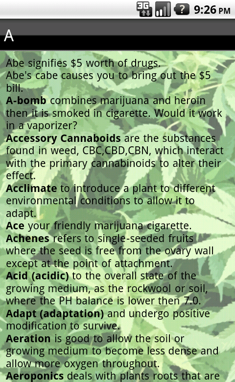 Marijuana Dictionary - screenshot