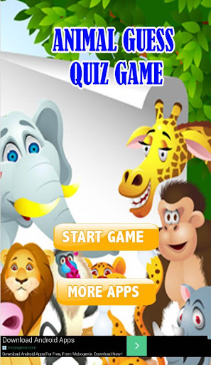 CARTOON ANIMAL GUESS QUIZ GAME