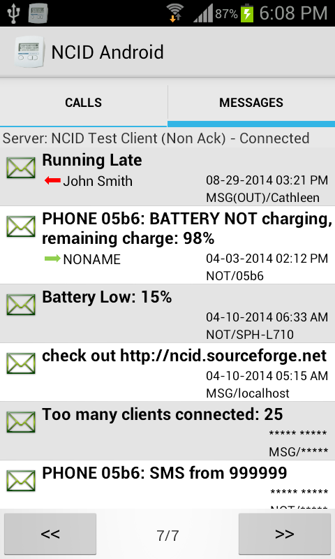 NCID Android- screenshot