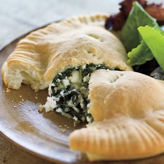 Ricotta and Spinach Calzone.