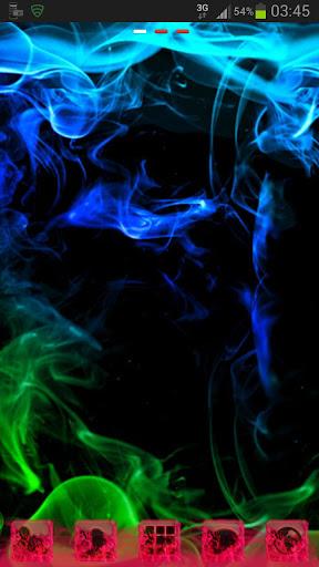 GO桌面主題綠色的煙霧