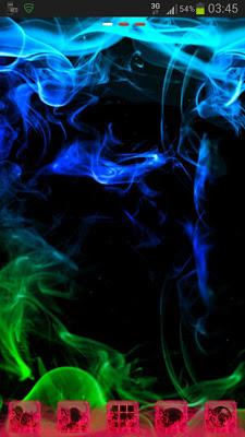 GO Launcher Theme green smoke - screenshot