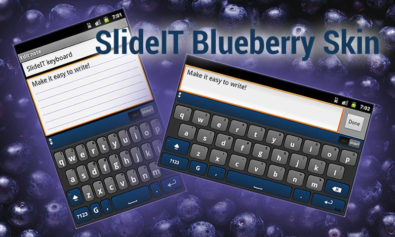 SlideIT Blueberry Skin- screenshot