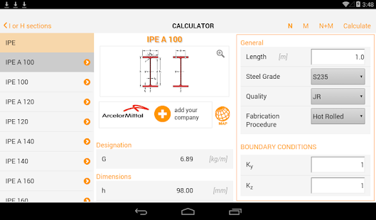 EC3 Steel Member Calculator- screenshot thumbnail