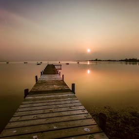 Silence at Sletnæs by Kim  Schou - Landscapes Sunsets & Sunrises ( kim schou, 0, sunset, nd tiffen 3, jetty, sletnæs )