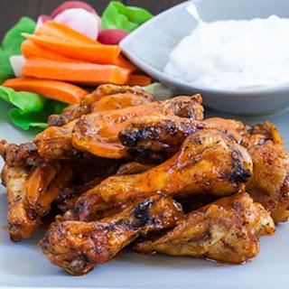 Baked Buffalo Chicken Wings.