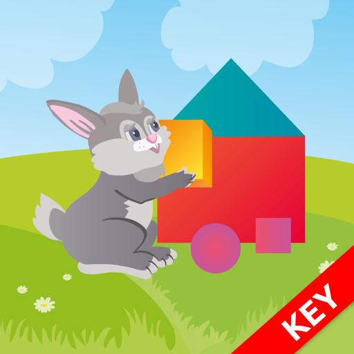 學習的形式和形狀的KEY 教育 App LOGO-硬是要APP