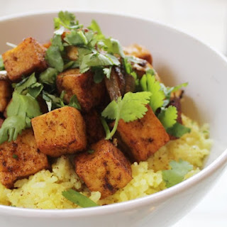 Spicy Stir-Fried Tofu with Coconut Rice From 'The New Vegetarian Cooking for Everyone'