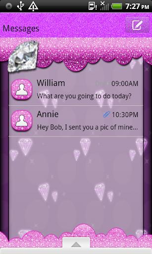 GlitterDiamondQT GO SMS THEME