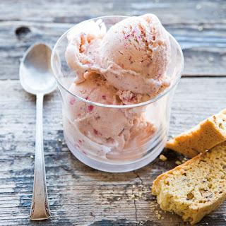 Strawberry-Crème Fraîche Ice Cream