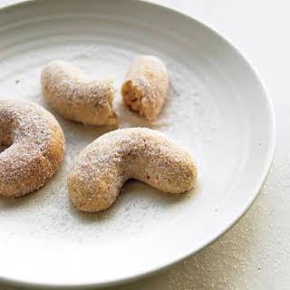 Almond Crescent Cookies.