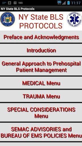 NY State BLS EMS Protocols