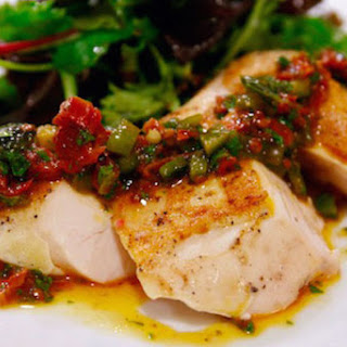 Roasted Poblano and Sun-Dried Tomato Vinaigrette for Sous-Vide Chicken Recipe