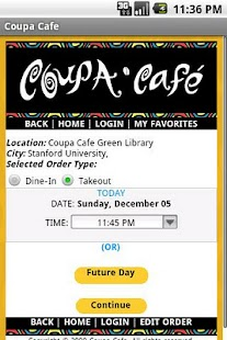 Coupa Cafe App - screenshot thumbnail
