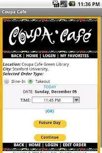 Coupa Cafe App - screenshot thumbnail