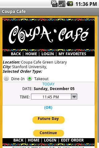 Coupa Cafe App - screenshot