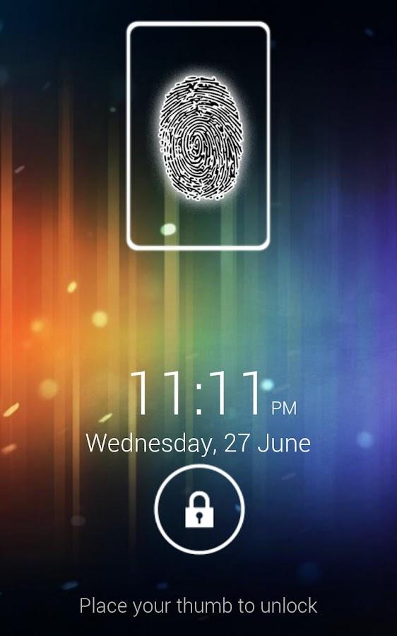 Fingerprint Screen Lock ICS - screenshot