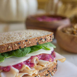 Leftover Turkey and Cranberry Sandwich.