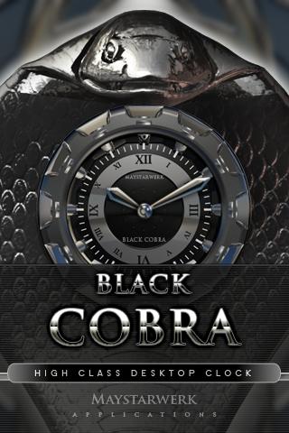 Clock Widget Black Cobra