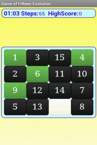 15 puzzle evolution FREE- screenshot