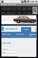 Screenshot of Norway Road Tolls