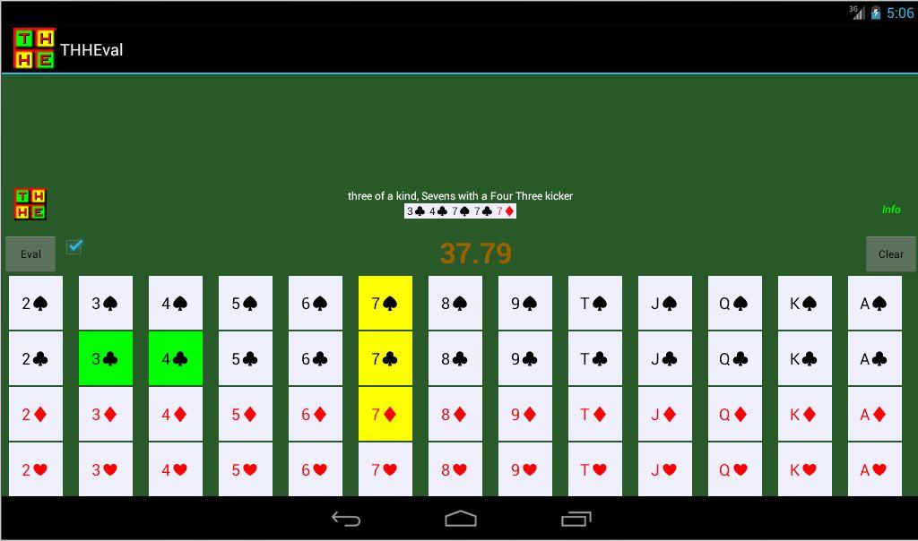 Texas holdem card scanner