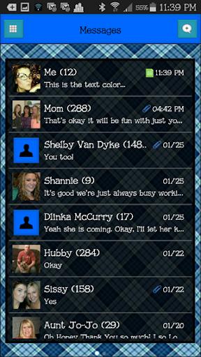 GO SMS THEME - EQ21