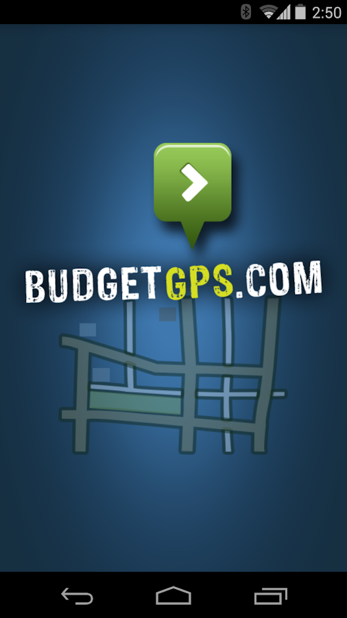 BudgetGPS- screenshot