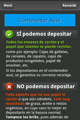 GuiaReciclaje- screenshot
