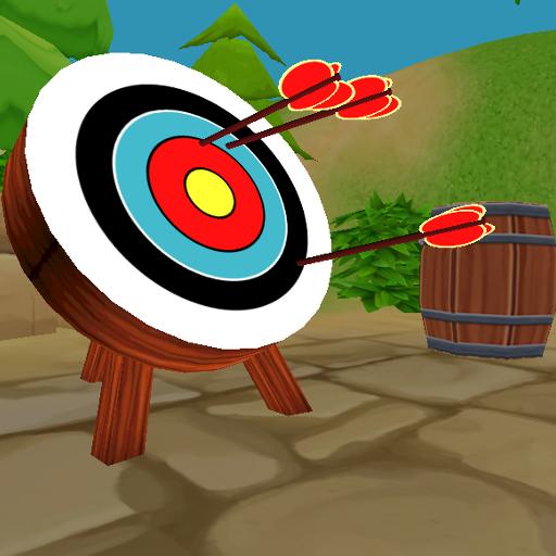 射箭比赛的弓和箭 體育競技 App LOGO-APP試玩