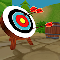 archery game bow and arrows icon