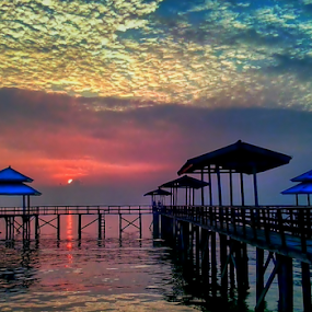 sunrise on the beach Kenjeran by Herry . - Instagram & Mobile Android