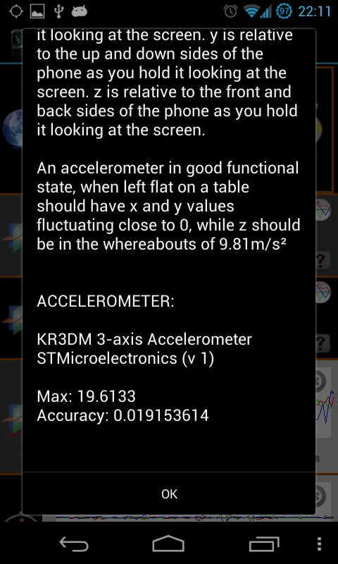 AndroSensor - screenshot