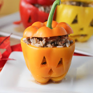 Halloween Stuffed Peppers.