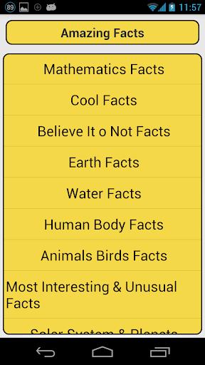 Amazing Facts +++
