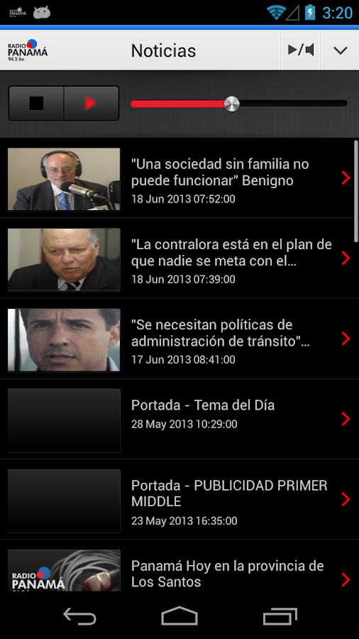 Radio Panamá para Android- screenshot