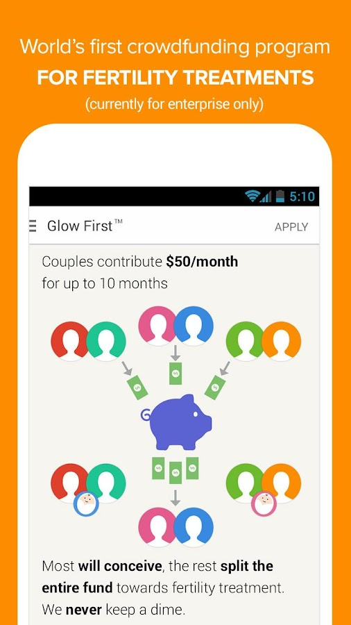 Glow Ovulation Period Tracker - screenshot