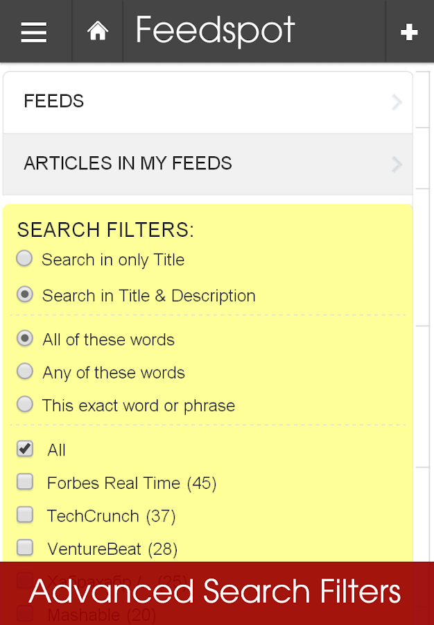 Feedspot News Reader. RSS- screenshot