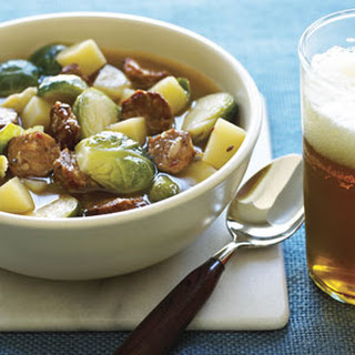 Brussels Sprouts and Sausage Soup