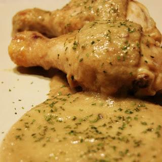 Chicken in Mushroom Sauce.