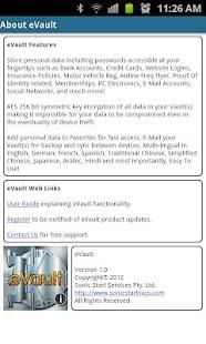 eVault- screenshot thumbnail