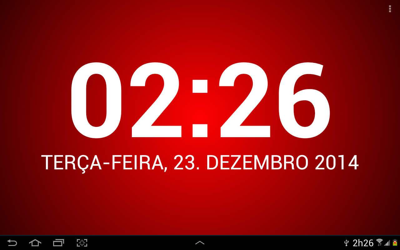 Relógio falante: TellMeTheTime: captura de tela