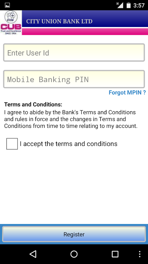 CUB Mobile Banking - screenshot