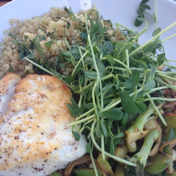 The quinoa bowl