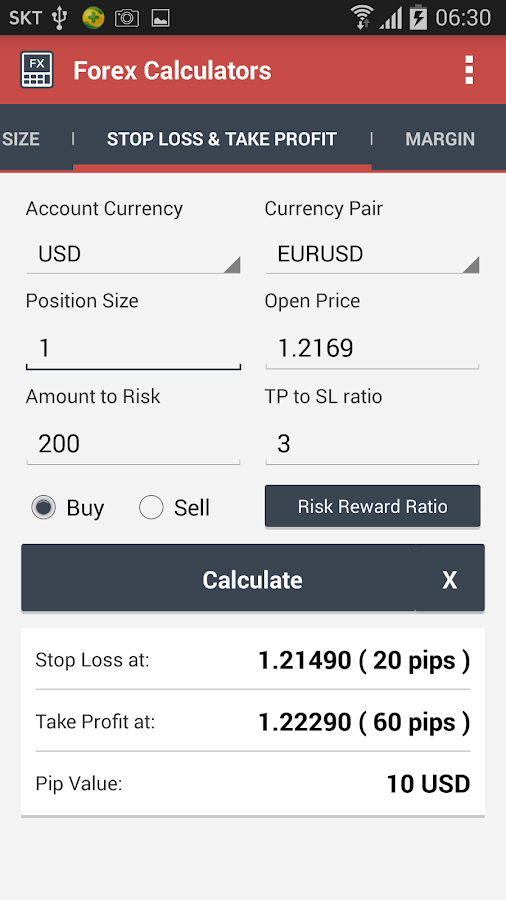 Forex profit calculator