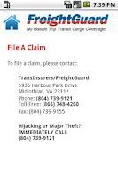 Screenshot of FreightGuard Insurance