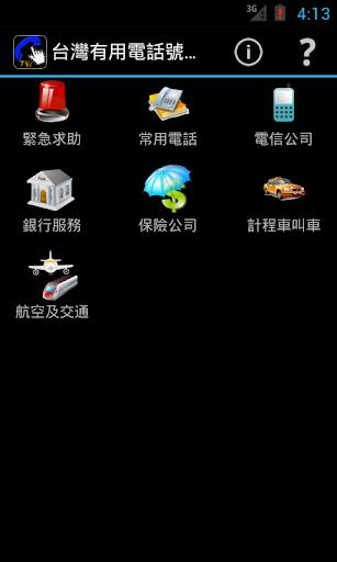 台灣有用電話號碼