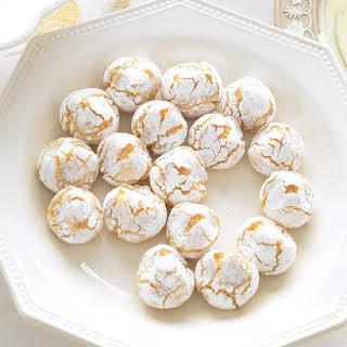 Pinched Orange Macaroons.