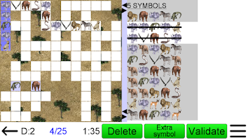 Screenshot of Number Fit Puzzle