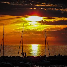 Novigrad, Croatia Sunset by Lori Louderback - Landscapes Sunsets & Sunrises (  )